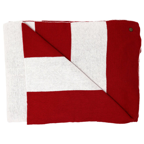 Lighthouse Stripe Red Blanket