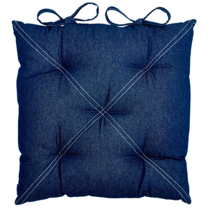 Minsmere Blue Cushion Pad with Ties