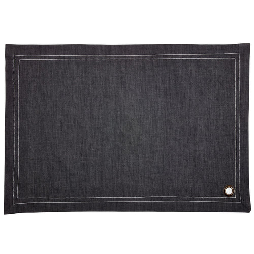 Minsmere Silver Denim Table Mat