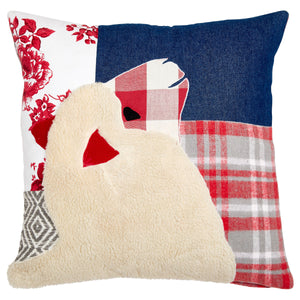 Patchwork Red Sheep Cushion
