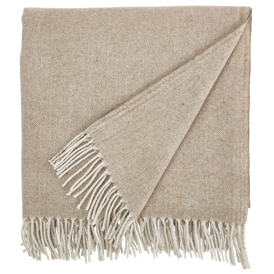 Country Calm Gold Lurex Throw
