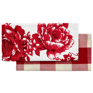 Vintage Rose Red Napkins (Set of 2)