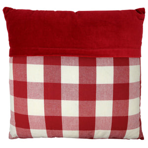 Vintage Rose Red Check Cushion