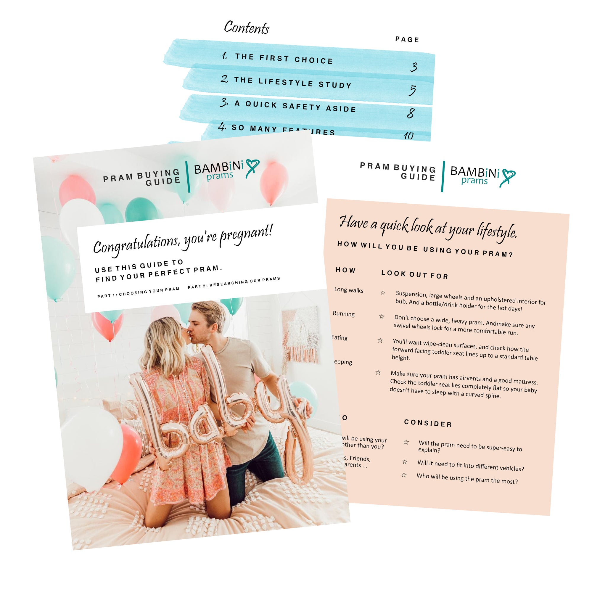 Preview of 'Finding your Perfect Pram' Free eBook