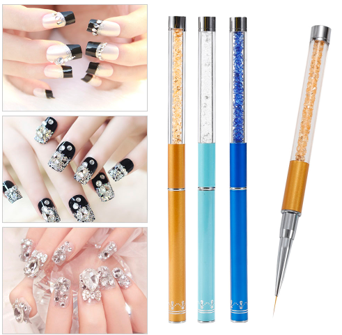 3PCs/Set Nail Brush/Pen