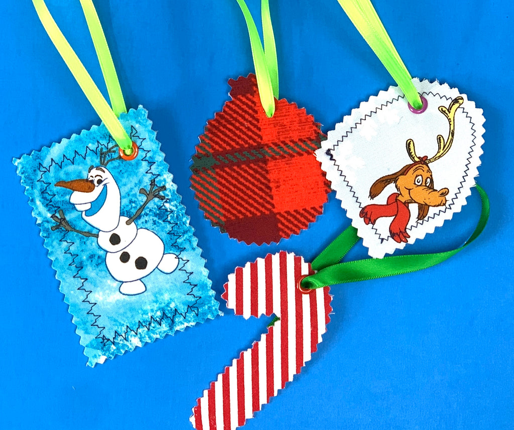 No Sew Holiday Gift Tags (Sewing Optional)