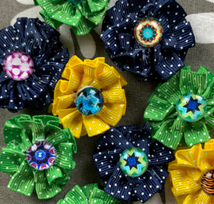Fabric Ribbon Flowers Video Tutorial