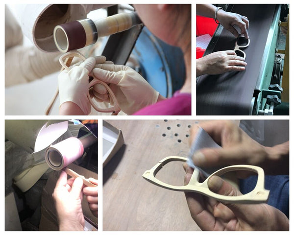 Hand finished wooden frame sunglasses