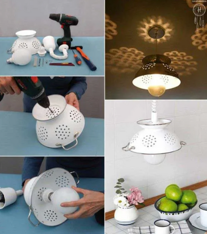 Up-cycled colander
