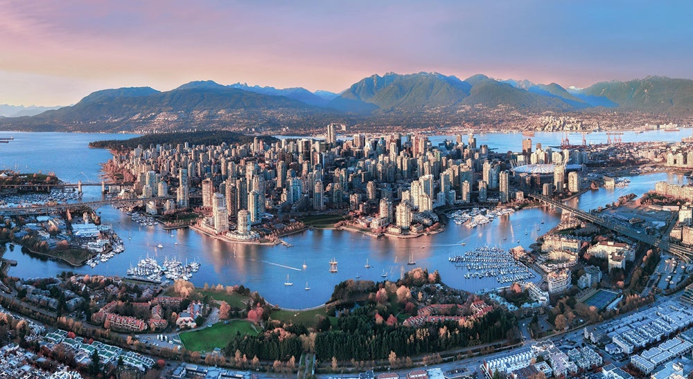 Vancouver BC Canada aerial shot
