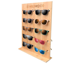 Bamboo Wooden Sunglasses Holder Organizer - Wildwood Eyewear | Sunglasses Canada