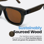 Youth Original Dark Bamboo (5 to 12 yrs) - Wildwood Eyewear | Sunglasses Canada