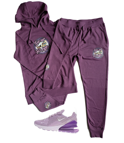 Ladies Fleece Jogger Set (Shoes Not For Sale)