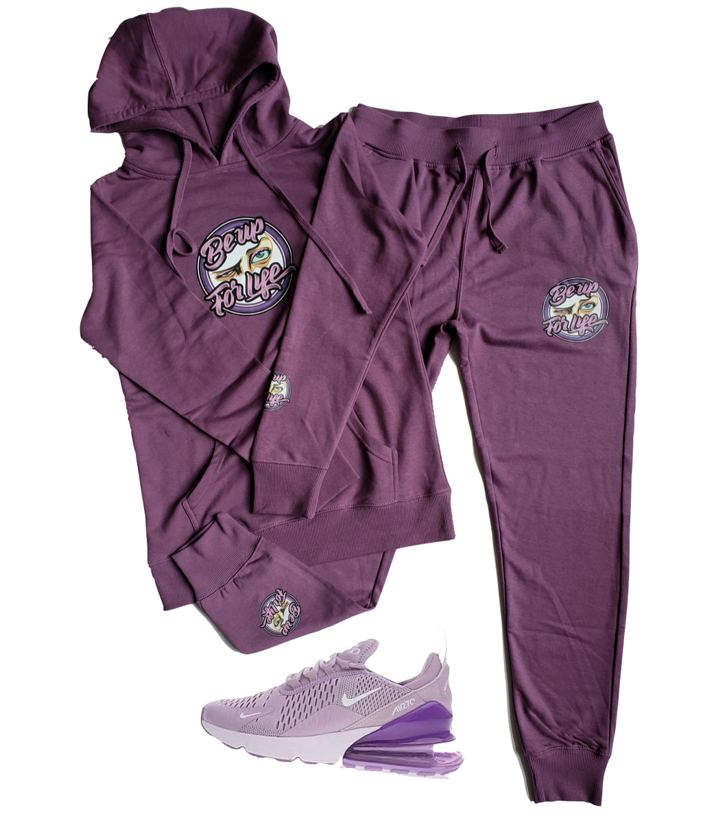 Ladies French Terry Jogger Set w/ Pressed Be Up Ladies Logo (Shoes Not For Sale)