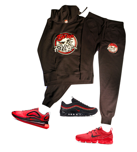 Ladies Fleece Jogger Set w/ Chenille Patch (Shoes Not For Sale)