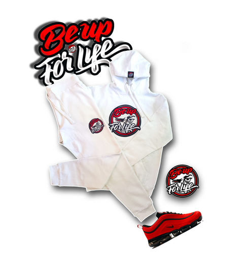 Be Up All White Jogger Set