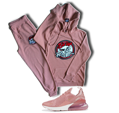 Women's Dusty Rose, French Terry Jogger (FREE SHIPPING, USA Only)
