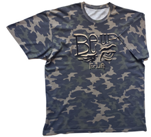 Load image into Gallery viewer, BE UP Camoflage Shimer Logo T Shirt