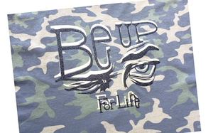 BE UP Camoflage Shimer Logo T Shirt
