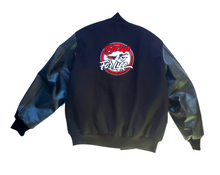 Load image into Gallery viewer, UNISEX VARSITY LETTERMAN JACKET, BLACK (FREE SHIPPING, USA Only)