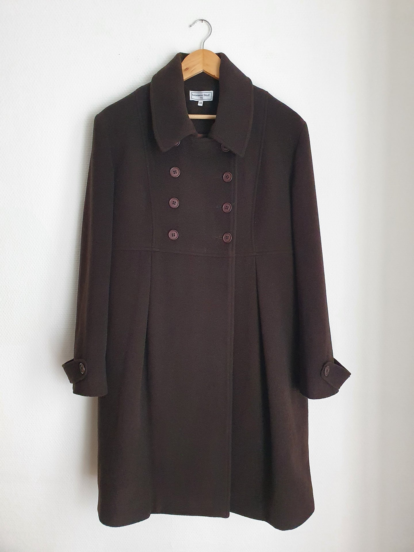 Manteau marron long M