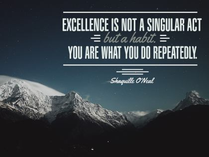 Excellence Is Not - Motivational/Inspirational Wallpaper (Downloadable JPEG)