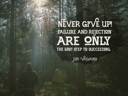 Never Give Up  - Motivational/Inspirational Wallpaper (Downloadable JPEG)