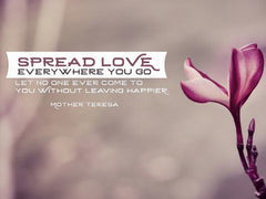Spread Love - Motivational/Inspirational Wallpaper (Downloadable JPEG)