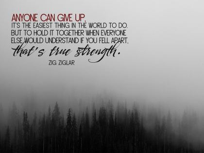 Anyone Can Give Up - Motivational/Inspirational Wallpaper (Downloadable JPEG)