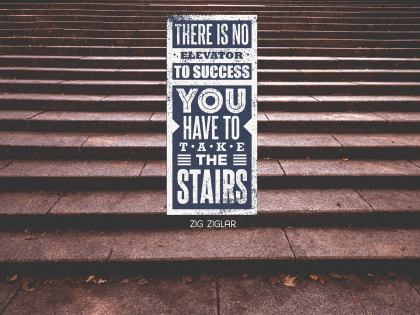 There Is No Elevator - Motivational/Inspirational Wallpaper (Downloadable JPEG)