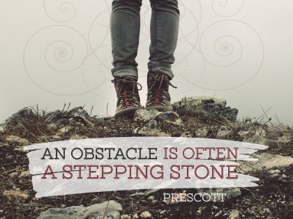 An Obstacle - Motivational/Inspirational Wallpaper (Downloadable JPEG)