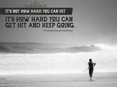 It Is Not How Hard You Can Hit - Motivational/Inspirational Wallpaper (Downloadable JPEG)