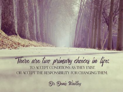 There Are Two Primary Choices in Life - Motivational/Inspirational Wallpaper (Downloadable JPEG)