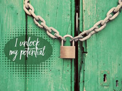 I Unlock My Potential - Motivational/Inspirational Wallpaper (Downloadable JPEG)