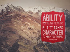 Ability May Get You to the Top - Motivational/Inspirational Wallpaper (Downloadable JPEG)