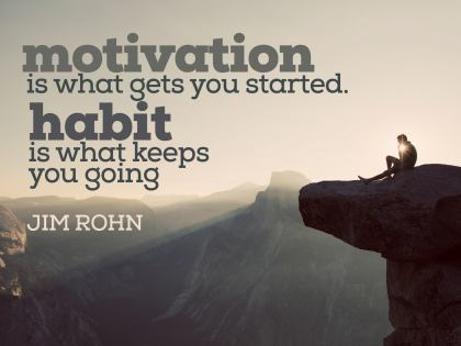 Motivation Is What Gets You Started - Motivational/Inspirational Wallpaper (Downloadable JPEG)
