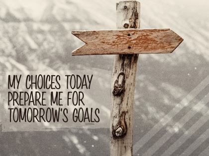 My Choices Today - Motivational/Inspirational Wallpaper (Downloadable JPEG)