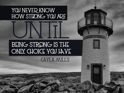 You Never Know How Strong You Are - Motivational/Inspirational Wallpaper (Downloadable JPEG)