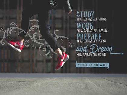 Study While Others Are Sleeping - Motivational/Inspirational Wallpaper (Downloadable JPEG)