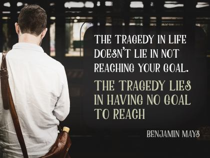 The Tragedy in Life - Motivational/Inspirational Wallpaper (Downloadable JPEG)