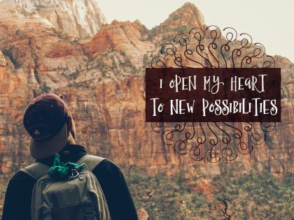I Open My Heart - Motivational/Inspirational Wallpaper (Downloadable JPEG)
