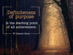 Definiteness of Purpose  - Motivational/Inspirational Wallpaper (Downloadable JPEG)