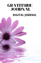 Gratitude Journal – Digital Journal – Floral - (Downloadable – PDF)