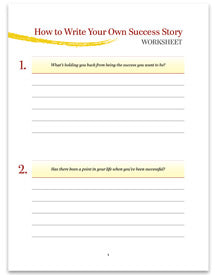 How to Write Your Own Success Story - Worksheet - (Downloadable – PDF)