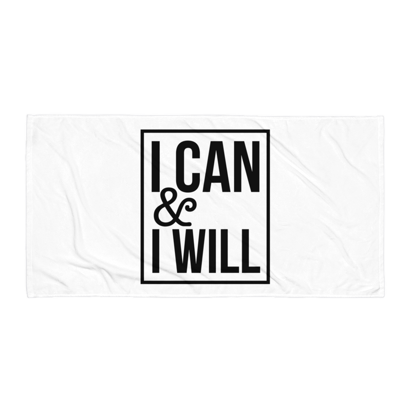 I Can & I Will - Beach Towel