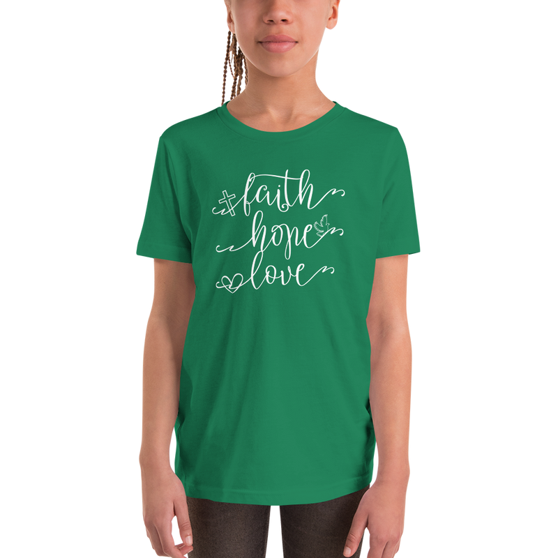 Faith Hope Love - Youth Short Sleeve T-Shirt