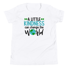 A Little Kindness Can Change the World  - Blue - Youth Short Sleeve T-Shirt