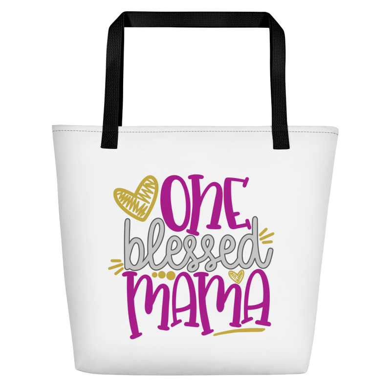 One Blessed Mama - Beach Bag