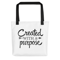 Created with a Purpose - Tote Bag