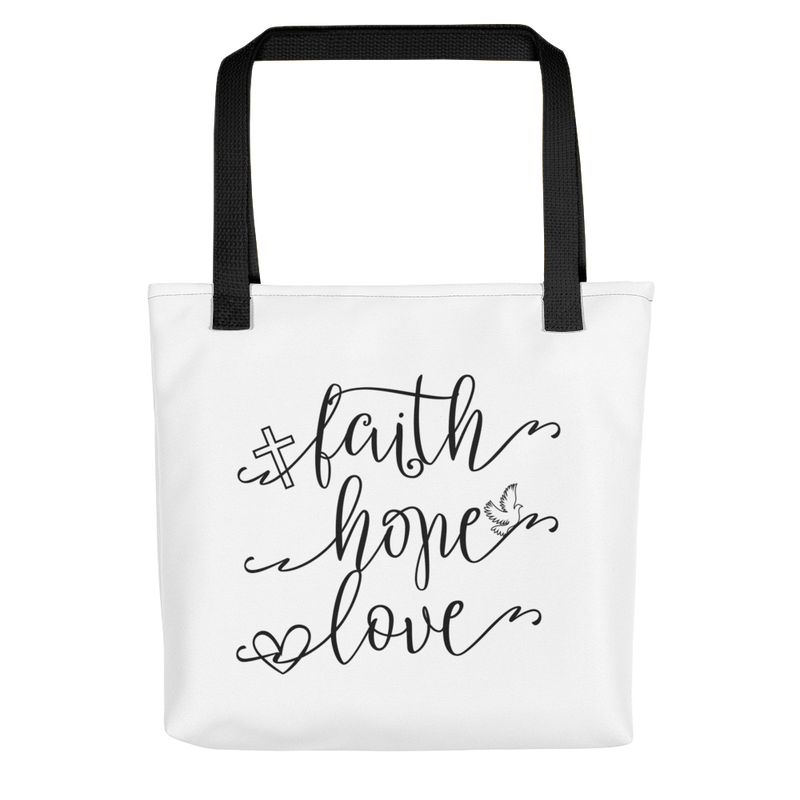 Faith Hope Love - Tote Bag